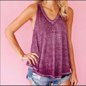 "Free people ""Breezy"" violet tank"